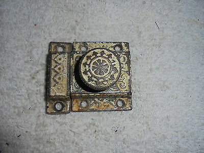 Antique Victorian Eastlake cast iron cabinet latch hardware  #21