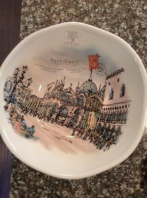 NEW!!! EFFETTI d'Arte Made in Italy Postcard Pasta Salad Bowl