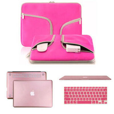 Hard Case Shell Keyboard Cover Carry Bag Set for Macbook Pro 13/15 Air 13/11inch
