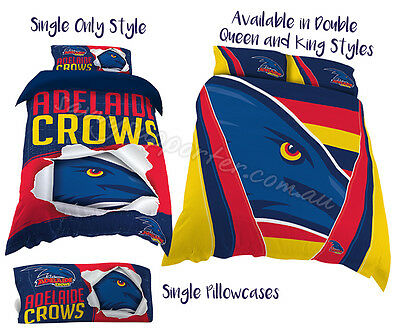 Adelaide Crows 2017 AFL Quilt Cover Doona Single Double Queen King Pillowcase