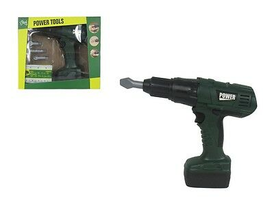 Children Kid Boys Battery Operated Turning Head Drill & 6 Bit Tool Play Toy Xmas
