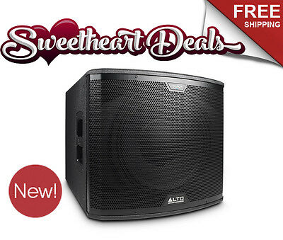 "NEW! Alto BLACK 15 SUB 2400 Watt Active Powered 15"" Subwoofer Wireless Control"