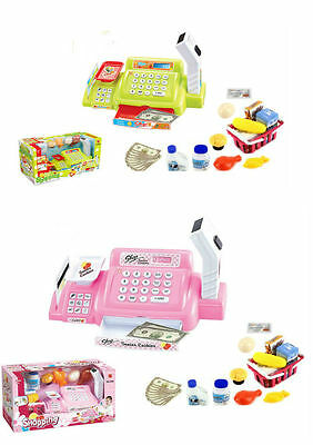 Supermarket Till Kids Cash Register Toy Gift Set Child Boys Shop Role Play Learn
