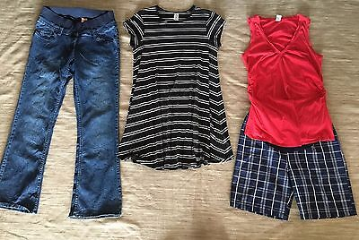 MATERNITY CLOTHES. SIZE 10-12. Jeans Dress Shorts. Top