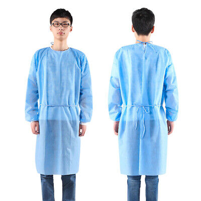 50pcs Disposable Isolation Gown Protective Gown Clothing 3/4-Cover Dustproof