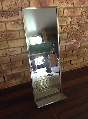 Hairdresser/salons/barber Stainless Steel Framed Wall Mirror. Very Cheap New