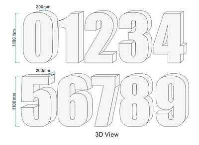 3D Birthday Number / Free Standing Styrofoam Number / Party Number Big Letters