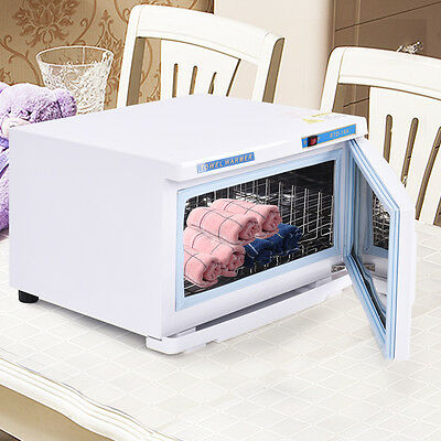16L UV Hot Facial Towel Warmer Cabinet Disinfection Sterilizer Humidity Beauty