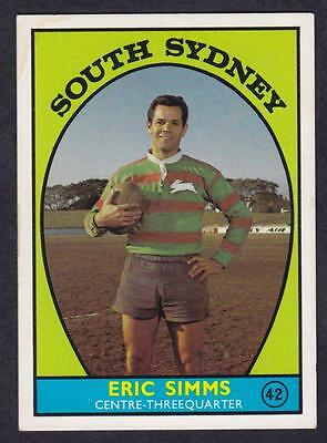 1968 A  Scanlens Eric Simms Souths No.42