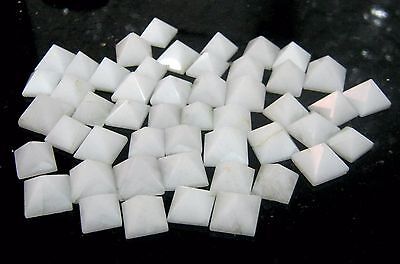 Lot Of 50 White Agate Loose Pyramids Gift Crystal Healing Feng Shui Reiki Bagua