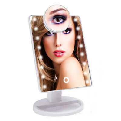 16 LED Light Illuminated Make Up Cosmetic Mirror with Small Magnification Mirror