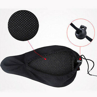 Pop Cycling Saddle Comfortable Silicone Gel Seat Cover Cushion Soft Pad JS