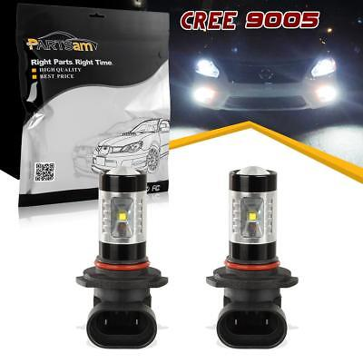 1SET 9005 White 6000K 780Lumens High Power 30W Led Fog Driving Light Bulbs