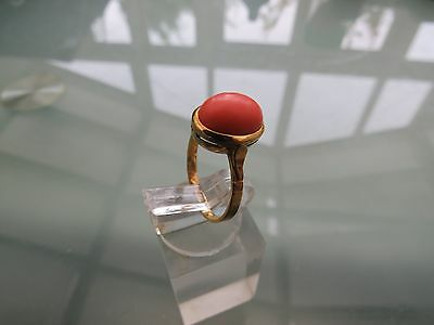 1950S 18Ct Gold Coral Ring
