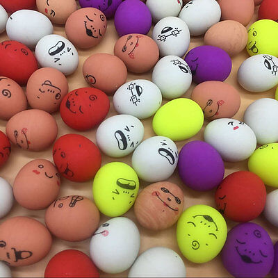 3X Mini Emoji Faces Expression Quail Eggs Bouncing Ball Relaxation Wholesale Lot