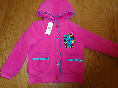 BNWT girls pink M&Co jacket. Owl detail. Warm lining. 3-4 years. RRP £18