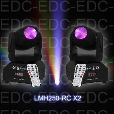 PACK 2 MINIS LYRES BEAM A LED CREE 4 -EN -1 / 10W / 11 ou 13 canaux DMX NEUF