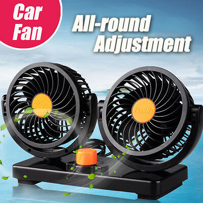 Portable 24v Car auto Vehicle Truck All-Round Air Fan Adjustable Cooler