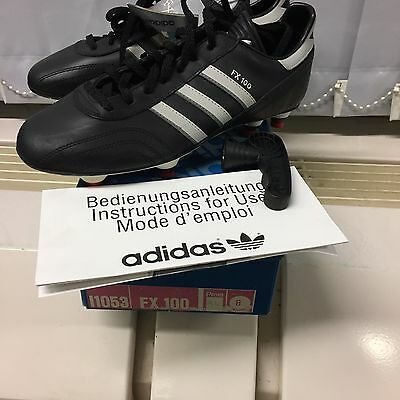 Vintage Adidas FX 100 Made In West Germany . UK 8. Rare. Football Soccer
