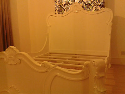 White French/Antique/Louis/Rococo/Baroque style Kingsize wooden bed DIY project