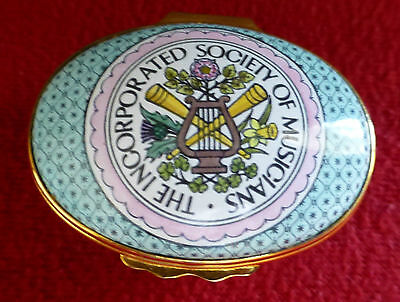 Halcyon Days Enamel Box - Incorporated Society of Musicians - Ltd. Edition 1982