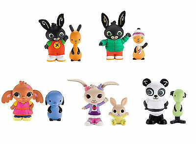 BING BUNNY FIGURE TWIN PACKS CBeebies TV Character Toys SULA AMMA PANDO FLOP