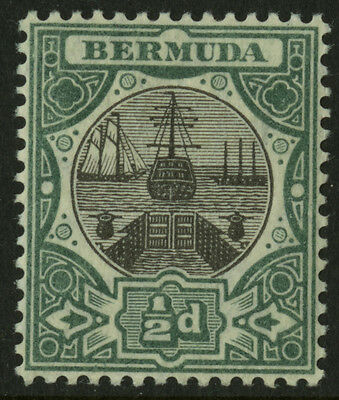 Bermuda  1906-10  Scott # 32  Mint Very Lightly Hinged