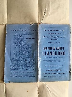 Wardleworth's (Cruchley) Large Scale Road Map: 40 Miles about Llandudno