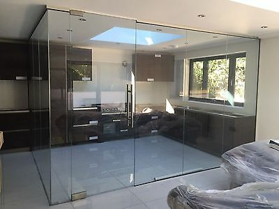Kitchen & Batrhroom GLASS PARTITOINS  Frameless Glass Screens for home or office
