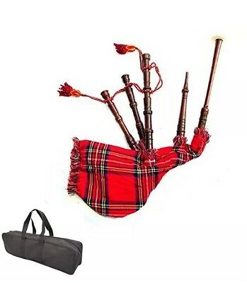 New junior Playable Bagpipe/Kids Toy Bagpipe Royal Steward Tartan With Bag