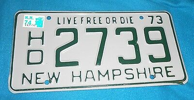 New Hampshire - Live Free Or Die HD2739  - 1973 License Plate