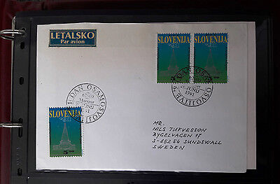 Slovenia 1991-1998 Postal History With Over 90 Stamped Covers!