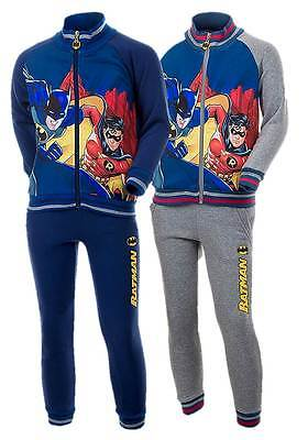 NEW Official Licensed Boys Batman 2 Piece Fleece Lined Tracksuit Ages 4-12yrs