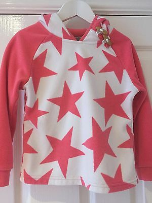 Next Pink Star Hooded Fleece Top, Size 4-5 Years