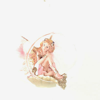 Fairy in Glass Bubble 4.25 inches Kurt Adler Christmas Ornament NEW C7221