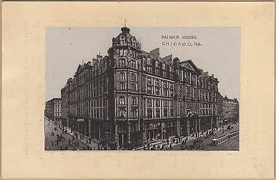 Victorian Trade Card-Jersey Coffee-Dayton, OH-Palmer House-Chicago, IL