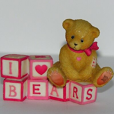 Cherished Teddies Enesco I Love Bears Blocks and Bear Figurine