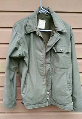 US Navy Deck Jacket A2 Permeable Cold Weather Vietnam. Medium. Stencil on back