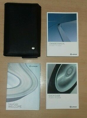 05 - 11 Lexus Is220D - Is250 Owners Manual  With Black Leather Case