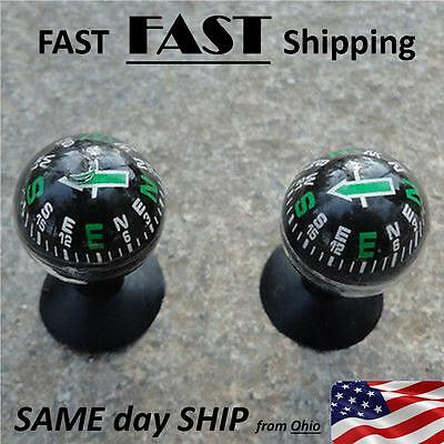 2x Suction Cup Mount Compass