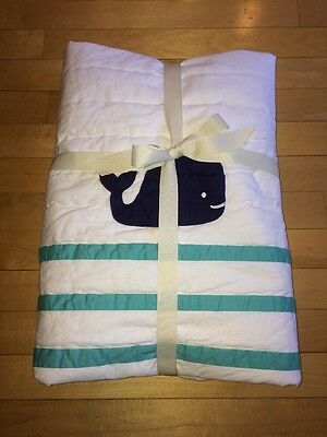 Pottery Barn Kids Hamptons Whale Nursery Toddler Quilt New Twins Triplets