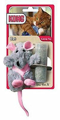 Kong Refillable Catnip Rat Cat Toy with FREE 20g Bag Of Catnip