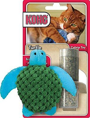Kong Refillable Catnip Turtle Cat Toy with FREE 20g Bag of Catnip