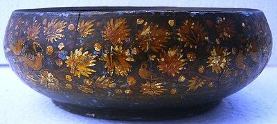 Indo Persian Embossed Hand Painted Outer Paper Mache & Inner Copper Bronze Alloy