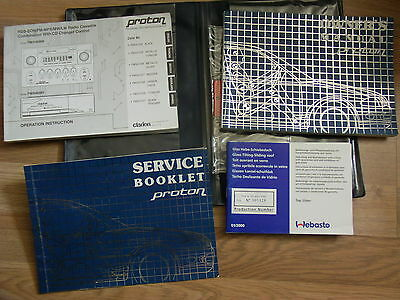 Proton Wira 2000 -2006 Drivers Owners Handbook Service Book Wallet