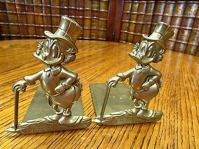 Walt Disney Productions, Brass Bookends, Donald Duck Series, Book Ends, Uncle