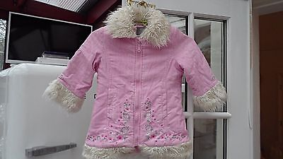 Girl's pink cord Lindex winter jacket age 2 Years/Eur 92