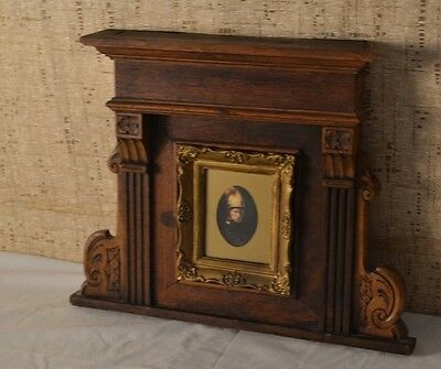 Antique Hand Carved Wood Picture Frame Vintage Home Salvage Piece Repurposed