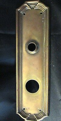 Vintage  VICTORIAN Brass Door Plate/Escutcheon by Yale (marked on back)