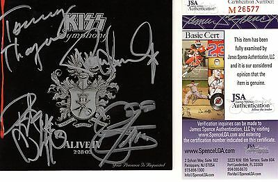 Kiss Hand Signed Alive Iv Cd Booklet       Signed By All 4      Gene+Paul    Jsa